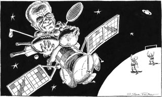 Pen & ink, published in <em>The Daily Telegraph</em>